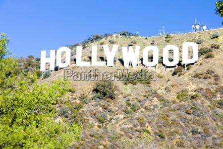 hollywood sign los angeles californien usa