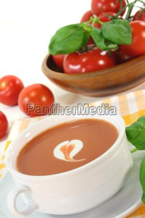 tomato soup with cream
