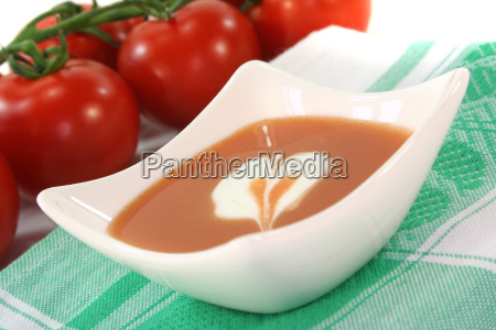 tomato soup with whipped cream