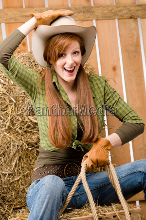 crazy young cowgirl horse riding country
