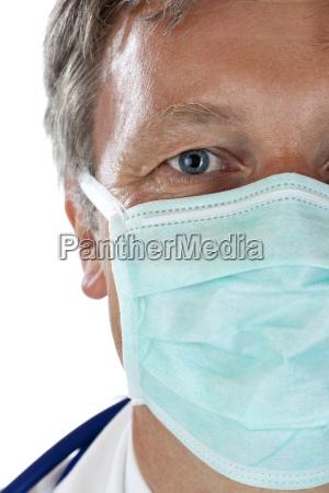 laege medic doktor ansigt beskytte munden