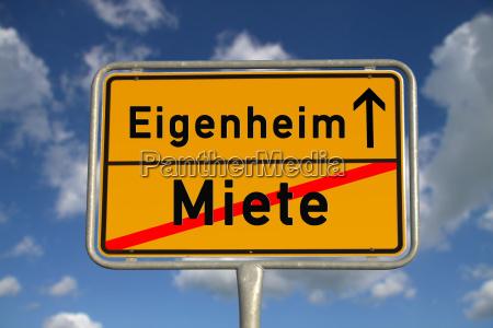 tysk sted tegn leje hjem