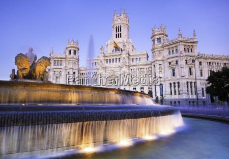 plaza de cibeles madrid spanien