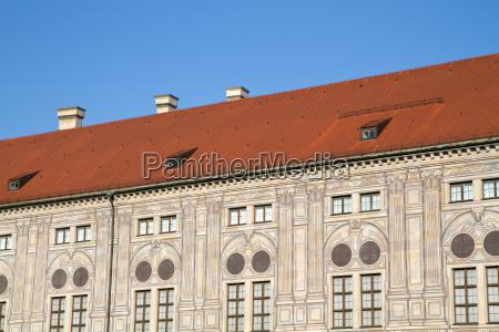 baviera monaco tetti cortile residenza blu