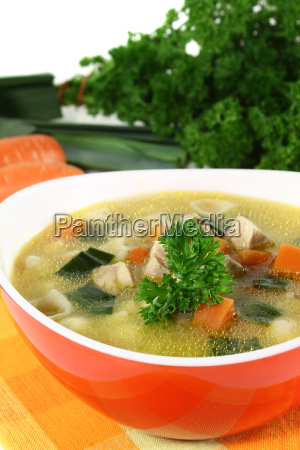 food dish meal pasta parsley soup