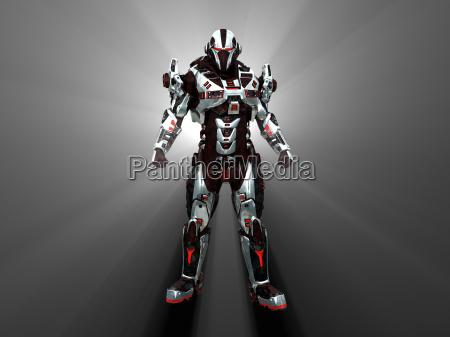 futuristisk kamprobot