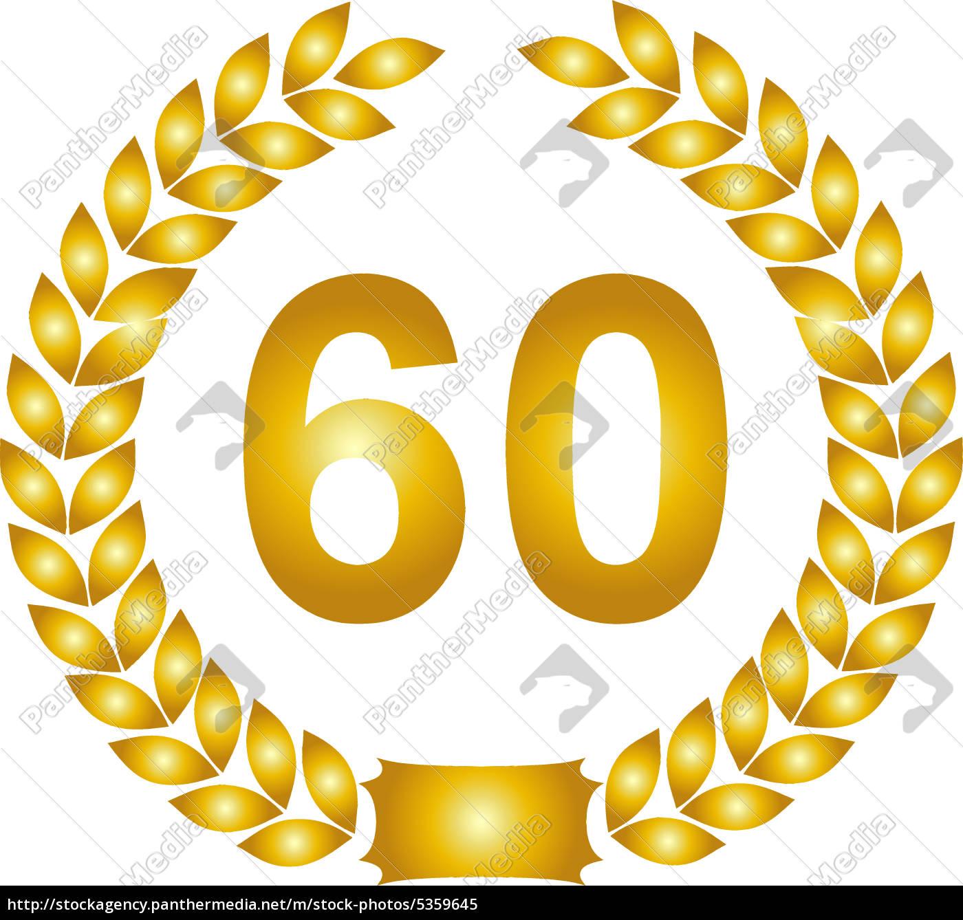 60 år gyldne laurbærkrans 60 år   Royalty Free Image   #5359645  60 år