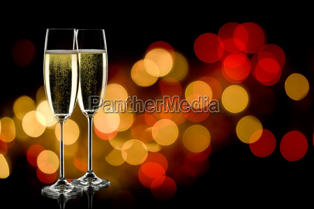 to glas champagne