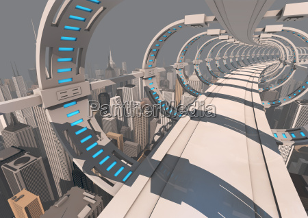futuristisk bybro
