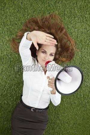 kvinde informere kommunikation forretningskvinde karriere kvinde