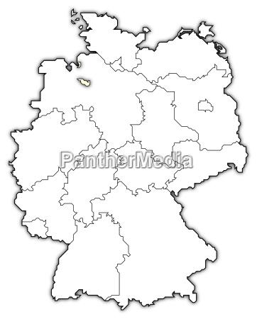 Kort Over Tyskland Bremen Fremhaevet Stockphoto 5493158