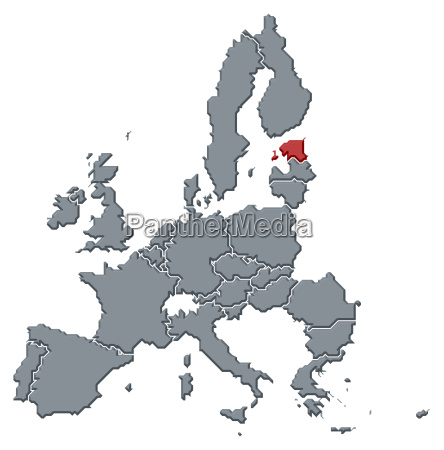 map of the european union estonia