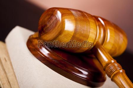 wooden gavel barrister