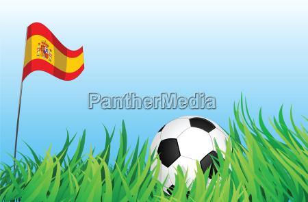 esporte esportes bola campo espanha bandeira