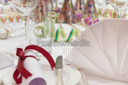borddekoration party