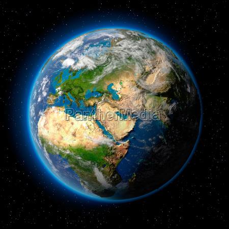 jorden i rummet
