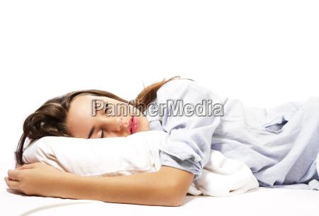 sleeping smuk kvinde i pyjamas