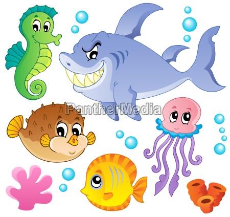 hav fisk og dyr kollektion 4