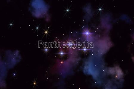 univers stjernehimmel stjerner konstellation astronomi himmel