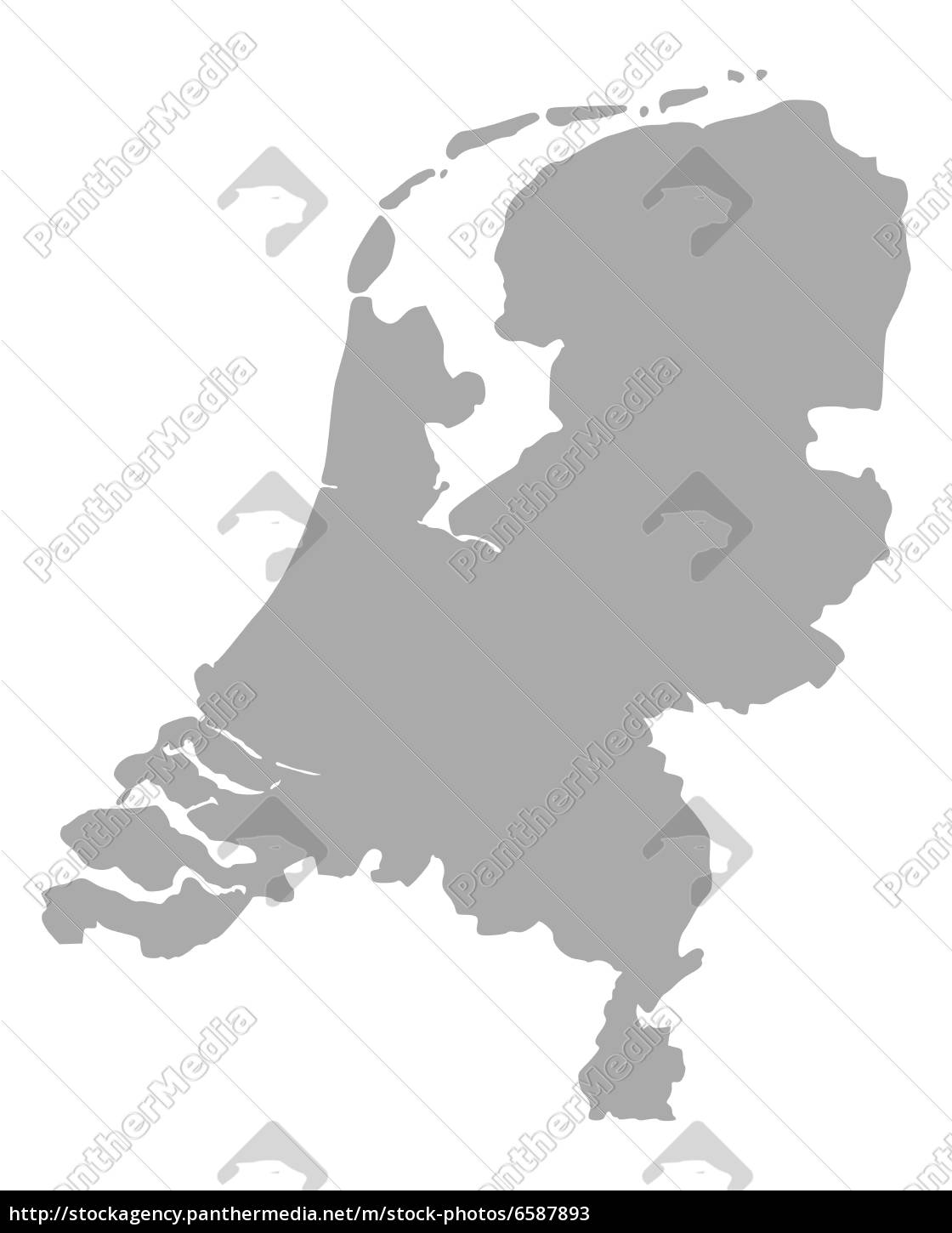 Byer I Holland Kort Kort Over Holland Byer Western Europe Europe