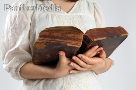 reading from an ancient bible