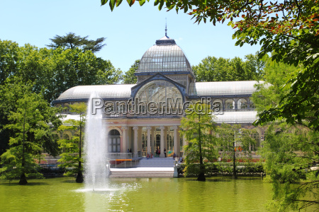madrid palacio de cristal w parku