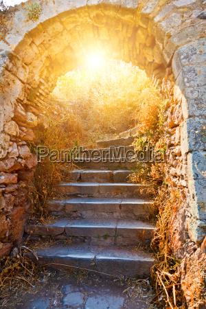 gamle stentrapper til palamidi faestning