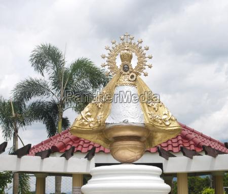 statue filippinerne still hellige guld virgin