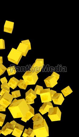 banner flying terninger guld gul
