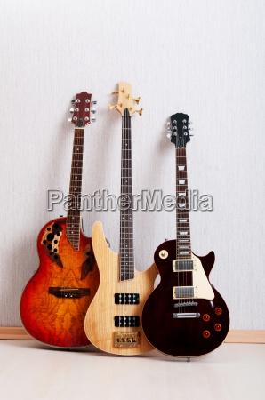 musical koncept med trae guitar