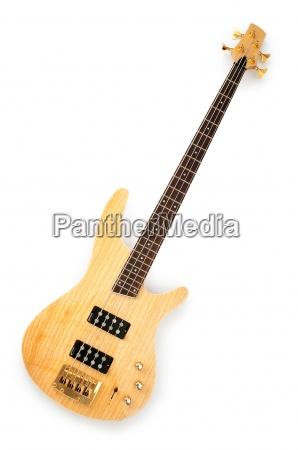 musikalsk guitar isoleret pa den hvide