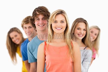 kvinde fnise smiler venskab smukke smuk
