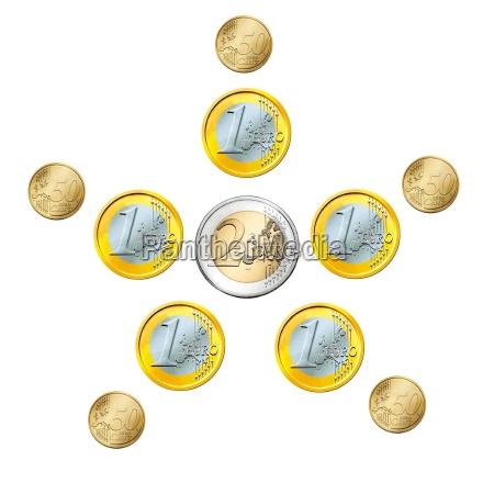 forbrug euro mont stjerne baggrund penge