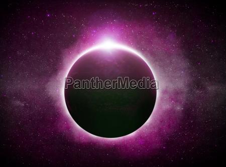 eclipse over planeten jorden