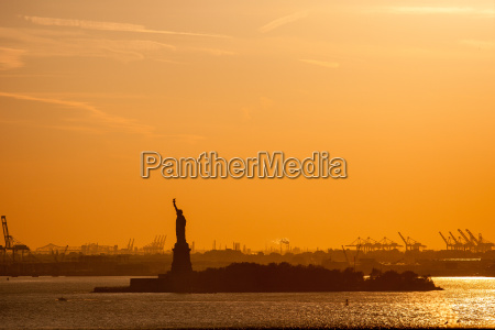 lys solnedgang usa aftenlys statue of