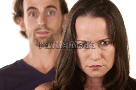 vred kvinde og uskyldig mand