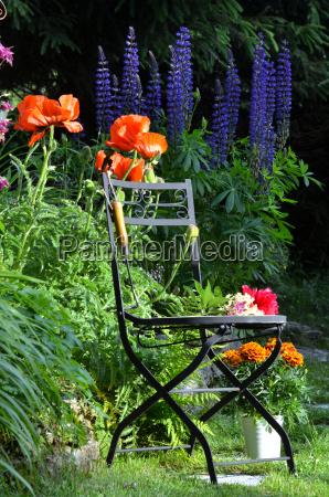 have stol blomst seng farverige