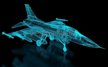 jet fighter fly mesh