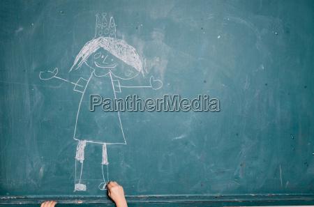 barn tegning billede pa tavlen