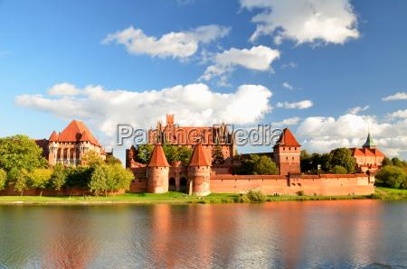 malbork slot i pommern region polen
