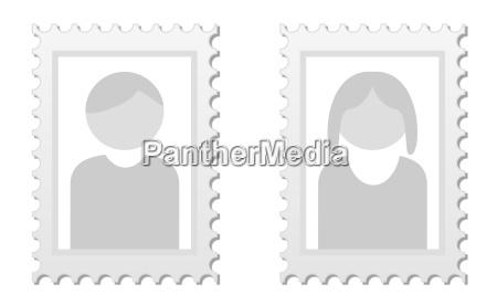 to billeder som pladsholdere til profilbilleder