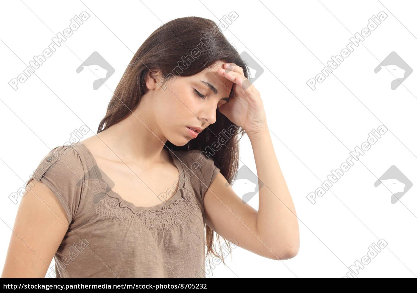 kvinde, med, en, hovedpine, og, hendes - 8705232