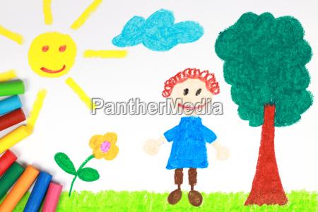 barn billede af en eng med