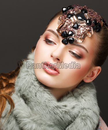 fantasy russisk kvinde mode model med