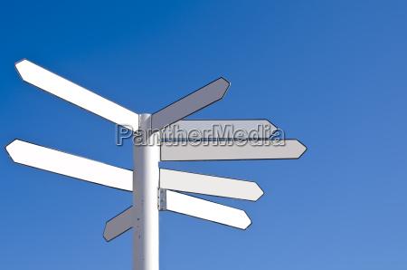 blankt retnings vejviser