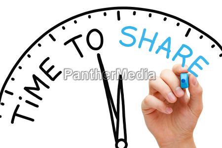 tid til at dele