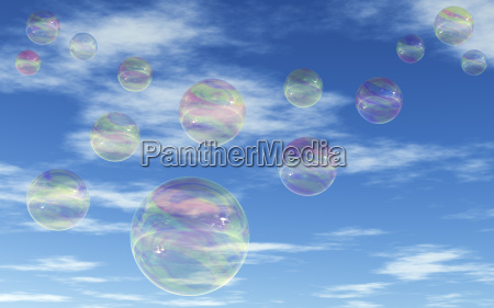 spejling blaese refleksion bobler gennemsigtig himmel