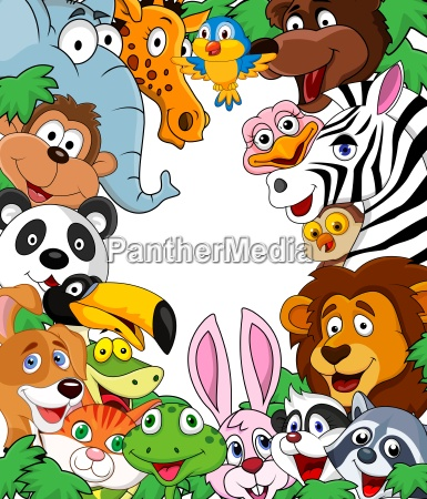animal tegneserie baggrund