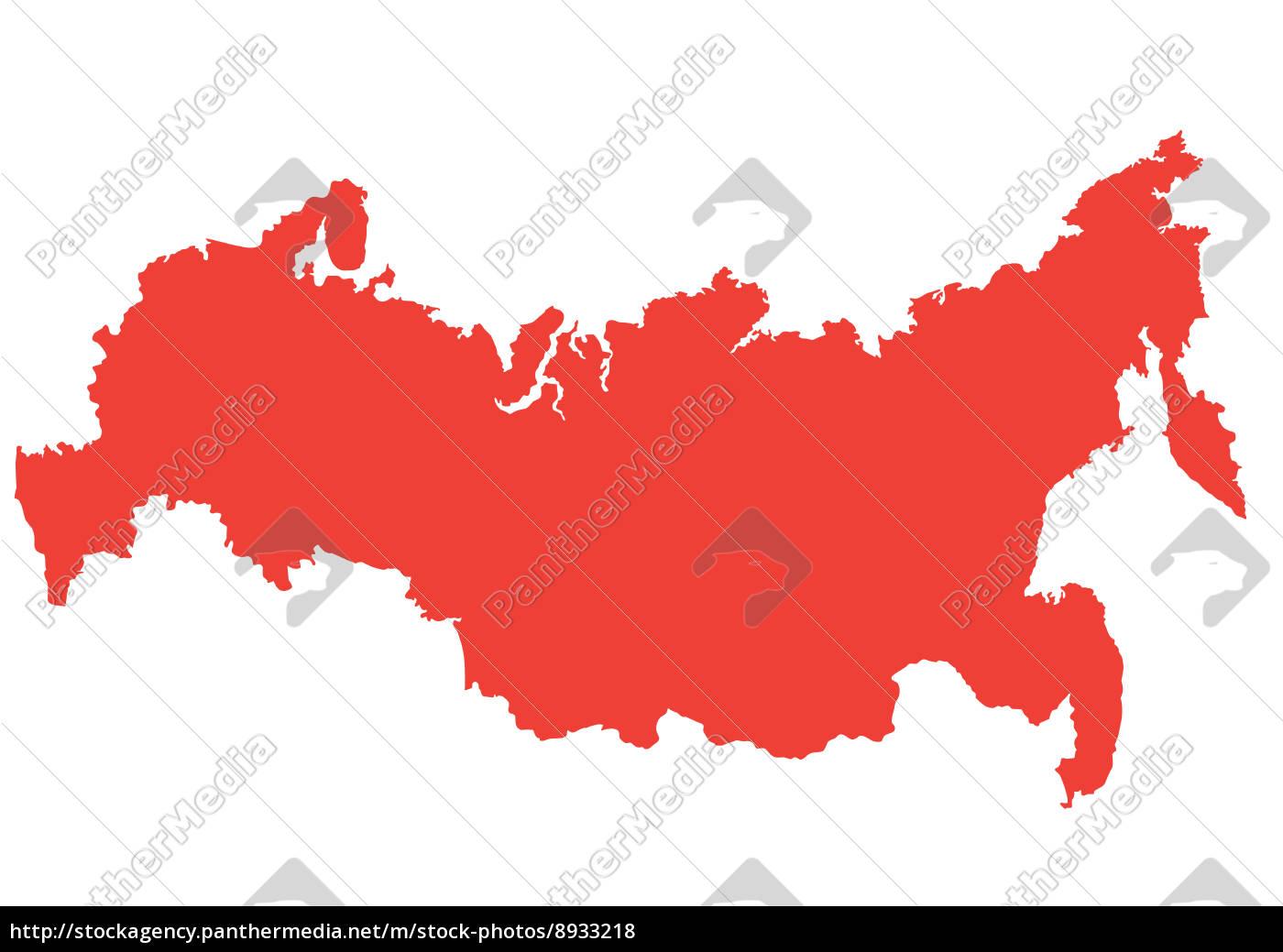 Vektor Kort Over Rusland Stockphoto 8933218 Panthermedia