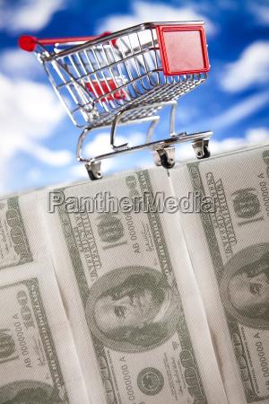 shopping supermarked indkobskurv